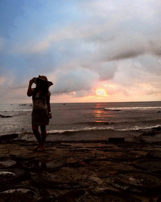 sunset pantai menganti